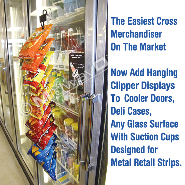 Plastic Door Strips >> Hanging Retail Strip Suction Cups | Adhere Metal Clipper ...