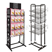 Knock-down 4 Shelf Chip Rack |15
