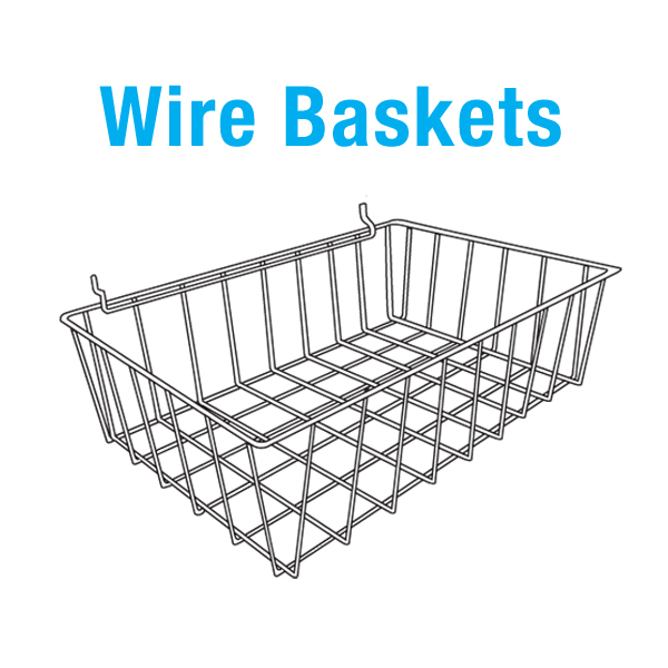 wire basket and wire shelf display parts midway displays. Black Bedroom Furniture Sets. Home Design Ideas