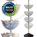 4-Tier Bin Floor Display | In-Stock On Sale: Quantities 1-9