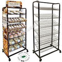 Retail Bakery Display Rack | 6 Tier Roll-Around Merchandiser