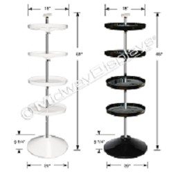 4-Tier Spinning Tray Floor Stand