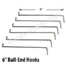 "6"" Ball-End Hooks"