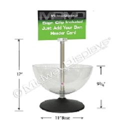 "14"" Plastic Counter Bin w/Center Banner Pole"