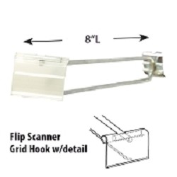 "8"" Flip Scanner Grid Hook"