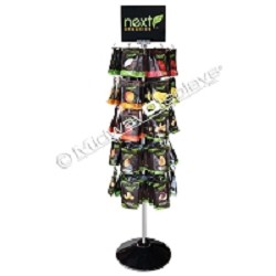 5 Tier Hook & Rotor Spinner Rack<br>Snack and Candy Floor Display