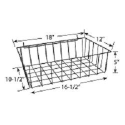 Wire Basket for Full-View Merchandiser Floor Stand
