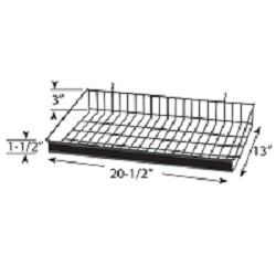 Angle Shelf with Price Channel for <br>Full-View� Merchandiser