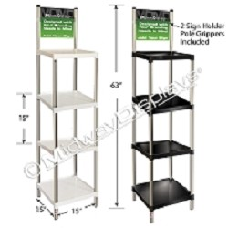 Stacking Square Plastic Shelf Floor Display
