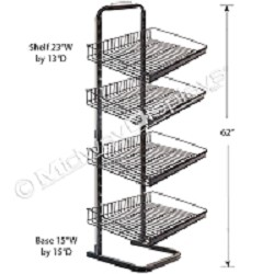 Full-View� Floor Merchandiser with Adjustable Shelves
