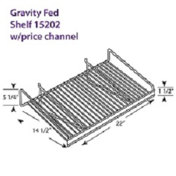 Gravity Fed Shelf 15202 w/price channel