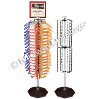108 Clipper Floor Display | High Capacity Clip Rack