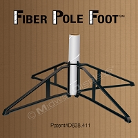 Fiber Pole Foot | Molded Plastic 4-Point Litho Fiber Tube Base