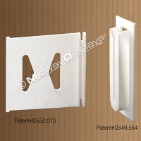 Large Shelf Support Clip for Corrugated Retail Point of Sale Merchandisers