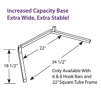 Extra Wide Increased Capacity Base