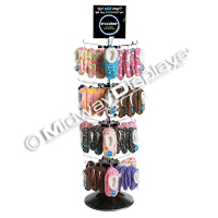 4 Tier Hook and Rotor Display<br>Modular Shoe Spinner