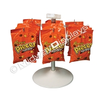 Single Tier 6 Hook H-Rotor, Snack Counter Spinner Display