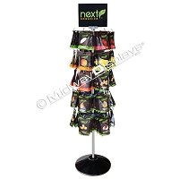 5 Tier Hook & Rotor Spinner Rack Snack and Candy Floor Display