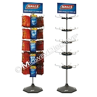 Hook & Rotor Spinner 5 Tier Floor Display