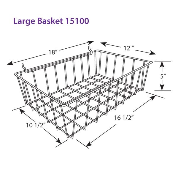 Large Wire Bin Basket for Open Stock