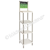 4 Tier Stackable Tray Merchandiser