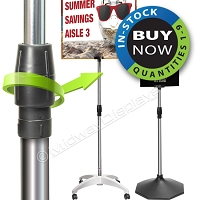 Signage Telescope Pole Set | Quickly Adjusts 25