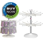 Retail Countertop Spinner | 2-Tier 24 Hook Capacity