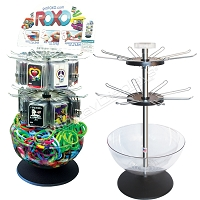 3-Tier Retail Spinner & Bin Counter Display