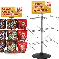 Counter-top 3 & 4 Tier Retail Spinner Display