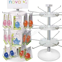 Countertop Spinner Rack | 3-Tier Hook & Rotor White