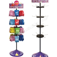 Hershey Birthday Retail Spinner Display | with Custom Header and Base