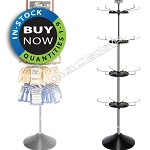 Retail Floor Spinner, 4-Tier Display Stand