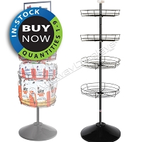Metal Wire Tray Floor Display | In-Stock On Sale: Quantities 1-9