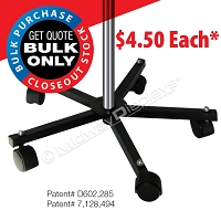 5 Point Spider Base wCasters | Mobile Retail Spinner Pole Stand