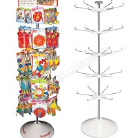 Pet Toy Spinner Display for Retail | 5 Tier Hook & Rotor