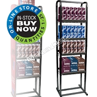 Six-Pack & Case Pack Retail Beverage Rack | Compact 4 Tier Multiple Pack Merchandiser