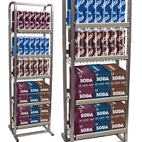 Six-Pack & Case Pack Retail Beverage Rack | Compact 5 Tier Multiple Pack Merchandiser