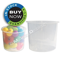 Clear Plastic Tubs | 1 Carton of 4  | Only $3.75 Each! | 6