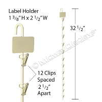 Display Strips | Almond Metal 12 Clip