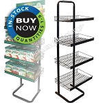 Full-View® Floor Merchandiser with Adjustable Shelves | Standard 15