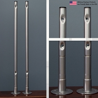 Economy Sneeze Guard 2-Piece Pole Set | 1