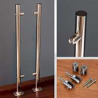 Custom Hygiene Partition 2-Piece Pole Set