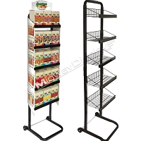 Retail Candy Display Rack On Wheels | 5 Tier Full-View® Merchandiser