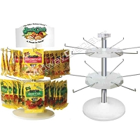 Counter Top Spinner Display | 2-Tier Hook & Rotor Candy Spinner