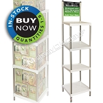 Stacking Square Plastic Shelf Display | In-Stock On Sale: Quantities 1-9