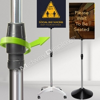 Telescoping Pole Sign Stand Set