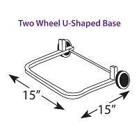 Two Wheel U-Shaped Base