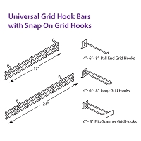 Universal Hook Bars and Hooks
