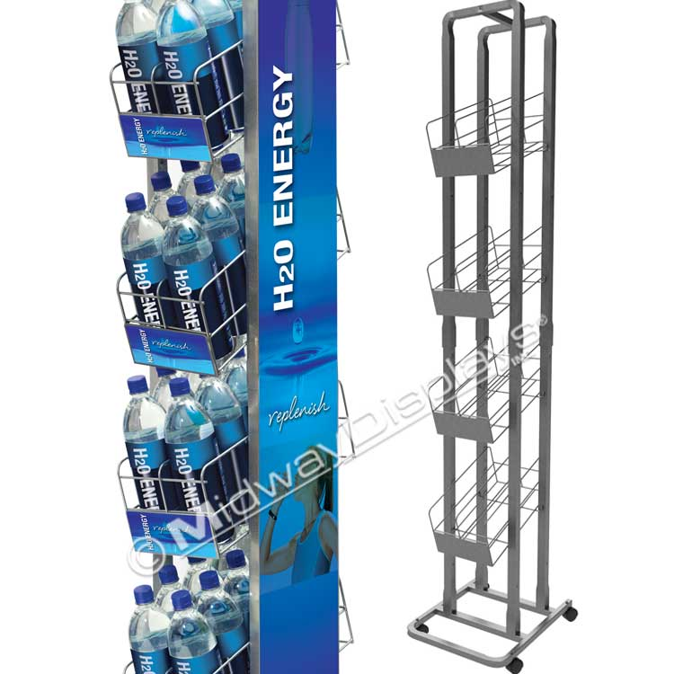 Retail Beverage Rack with Gravety Fed Shelves | Compact Modern ...
