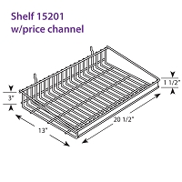 Metal Wire Shelf 15201w/price channel